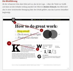 Fokus: Blickführung! | Beispiel von bigbossdesign.de